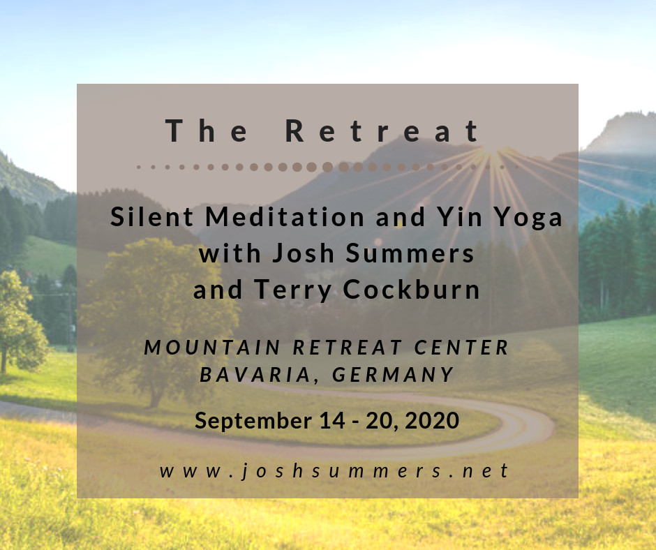 Silent Meditation and Yin Yoga Retreat with Josh Summers and Terry Cockburn