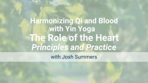 Harmonizing Qi and Blood with Yin Yoga – the Role of the Heart: Online Workshop – Recorded Live on July 10, 2021