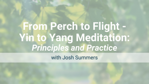 From Perch to Flight – Yin to Yang Meditation: Online Workshop – Recorded Live on Sept 11, 2021